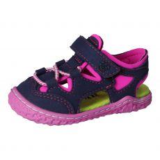 Barefoot sandálky RICOSTA Kenny Ozean / neonpink | 21, 22, 23, 24, 25