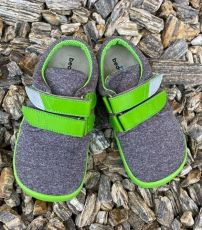 Beda barefoot tenisky Soft lime   20, 21