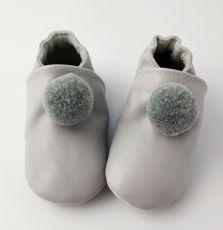 Topánočky Lait et miel šedej s brmbolcom   12-18 M