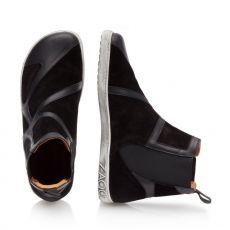 Barefoot Kožené boty ZAQQ QEY WEST Black bosá