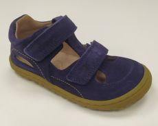 Barefoot Lurchi sandálky - NANDO suede Azul bosá