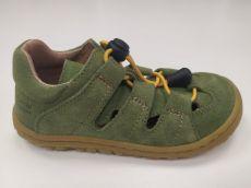 Lurchi sandálky - NATHAN suede Aloe velo