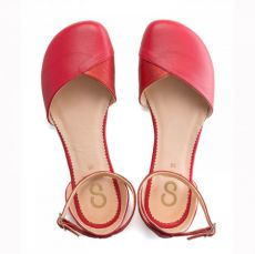 Barefoot SHAPEN Barefoot balerínky POPPY II CHERRY bosá