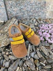 Béda Barefoot Caramel - nízke celoročné topánky   20, 21, 22, 28, 29, 31
