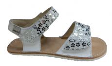 OKBARE barefoot sandálky Mirisa D203 G bílá/bílá třpytivá