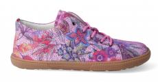 Barefoot celoroční boty KOEL4kids - KOEL4kids - Lady fuchsia flowers