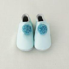 Topánočky Lait et miel modré s brmbolcom   12-18 M
