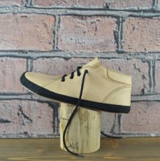 Celoroční boty - Bosé Pegresky pro dospělé - béžová s černým okopem