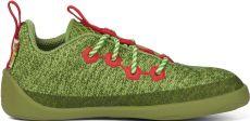 Detské barefoot topánky Affenzahn lowcut Knit Dragon-Green - šnúrky | 25