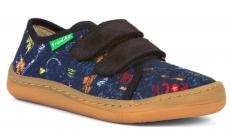 Froddo barefoot tenisky blue s nápisy
