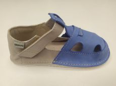 OKBARE barefoot sandálky Ithaka modrá | 24, 25, 26, 27, 28, 29, 30