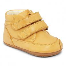 Barefoot topánky Bundgaard Prewalker II Velcro Yellow WS | 20, 21, 22