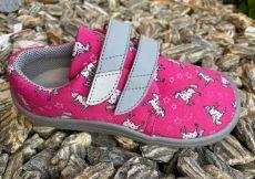 Béda barefoot textilné tenisky Unicorn - šedá podrážka   22, 23, 24, 25, 26, 27, 28, 29, 30