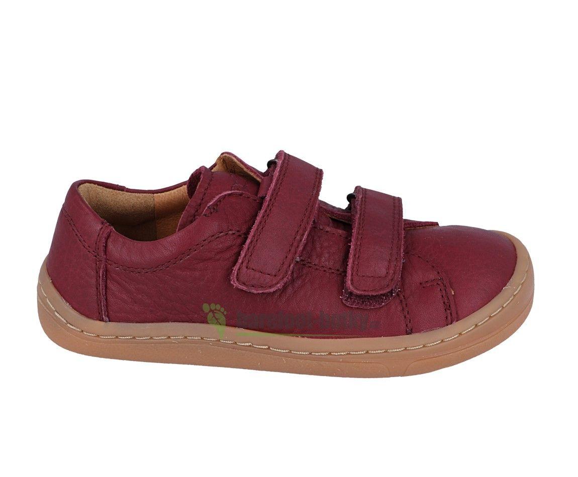 Froddo barefoot celoročné topánky bordeaux - 2 suché zipsy