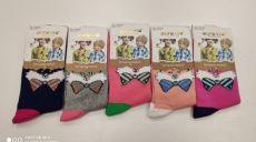 Detské ponožky pre dievčatá - lišiak s mašľou | 24-27, 28-31, 32-35