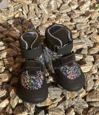JONAP barefoot topánky JERRY čierna lesklá   22, 23, 24, 25, 26, 29