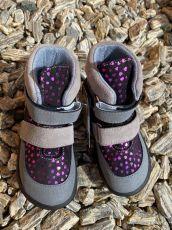 JONAP barefoot topánky JERRY srdce SLIM   22, 23, 25