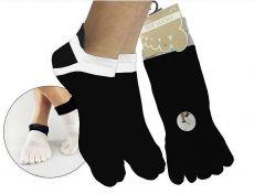 Prstové ponožky pre dospelých Prstan 01 - čierna | 36-41, 42-46
