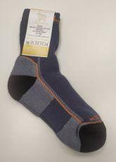 SURTEX ponožky froté - 95% merino čierne s oranžovým nápisom | 41-43