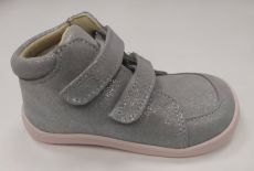 Baby bare shoes Febo Fall grey / pink trblietavé | 25, 27, 28, 32