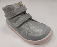 Baby bare shoes Febo Fall grey / pink trblietavé