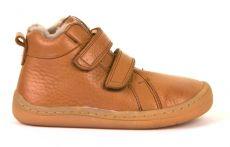 Froddo barefoot zimné členkové topánky cognac s pravým kožúškom   21, 22, 23, 24, 25, 26, 27, 28, 29, 37, 38, 39, 40