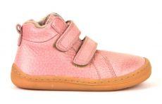 Froddo barefoot zimné členkové topánky pink s pravým kožúškom   20, 22, 25, 26, 27, 28, 29, 37, 38, 39, 40