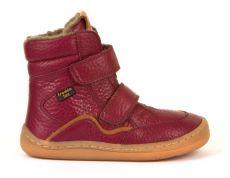 Froddo barefoot zimné vysoké topánky bordeaux - s membránou   23, 24, 25, 26, 27, 28, 29, 30, 31, 32, 33, 34, 35