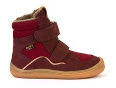 Froddo barefoot zimné vysoké topánky bordeaux s membránou   23, 24, 25, 26, 27, 28, 29, 30, 31, 32, 33, 34, 35
