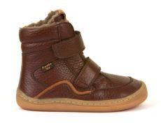 Froddo barefoot zimné vysoké topánky brown - s membránou   23, 24, 25, 26, 27, 28, 29, 30, 31, 32, 33, 34, 35