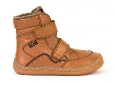 Froddo barefoot zimné vysoké topánky cognac - s membránou   23, 24, 25, 26, 27, 28, 29, 30, 31, 32, 33, 34, 35