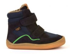 Froddo barefoot zimné vysoké topánky dark blue - s membránou   23, 24, 25, 26, 27, 28, 29, 30, 31, 32, 33, 34, 35
