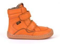 Froddo barefoot zimné vysoké topánky orange - s membránou   23, 24, 25, 26, 27, 28, 29, 30, 31, 32, 33, 34, 35