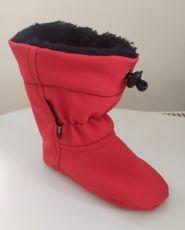 Softshellové capáčky - červené   12 cm, 14 cm