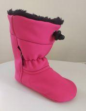 Softshellové capáčky - ružové   12 cm, 14 cm