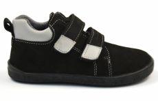 Barefoot kožené celoročné topánky EF Spike Black Grey | 29, 30, 31, 33