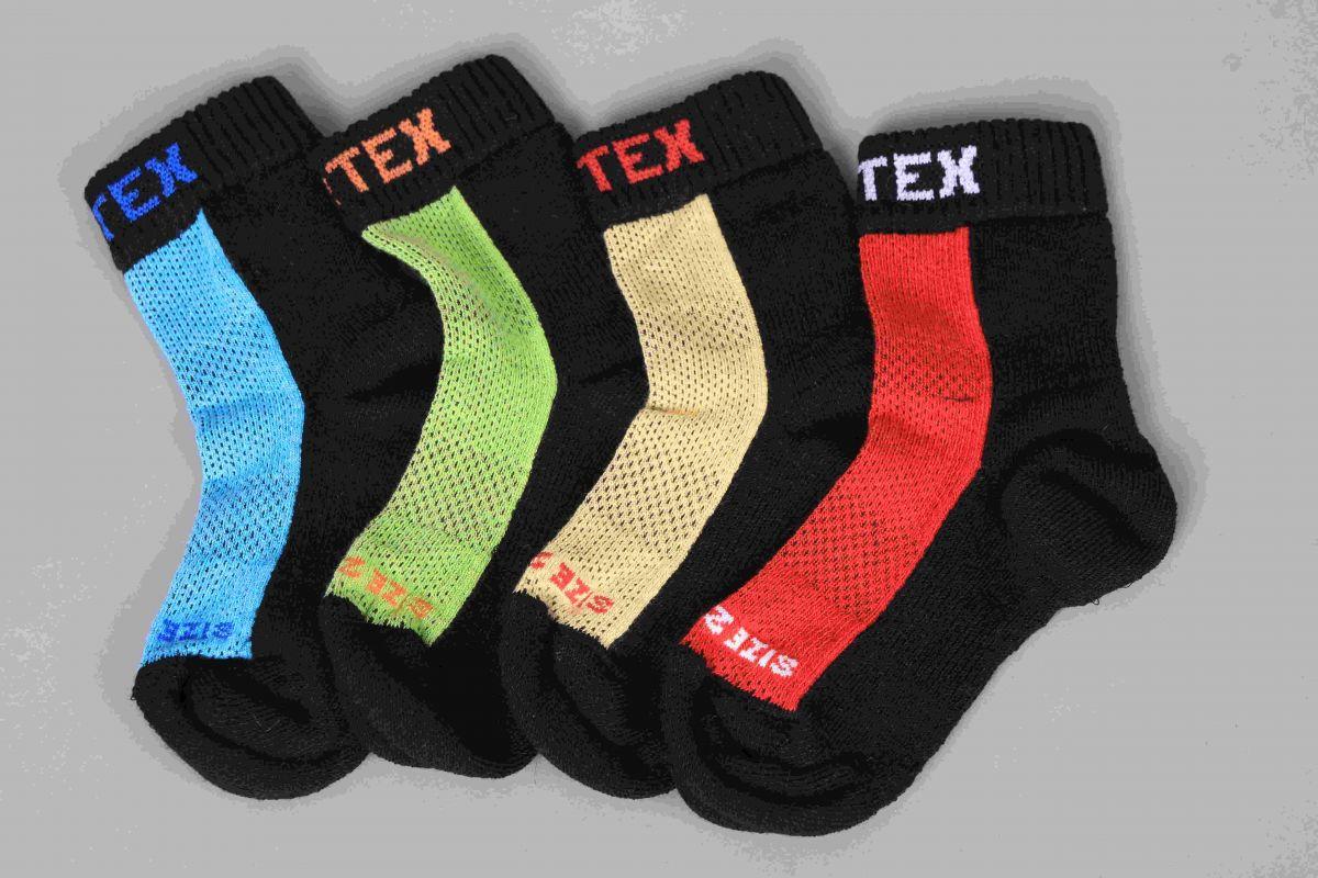 Barefoot Surtex merino ponožky froté - tenké modré bosá