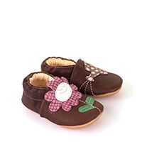 Barefoot Froddo prewalkers capáčky s gumovou podrážkou - hnědé bosá