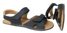 Pánské Barefoot kožené sandále černé - normální šíře