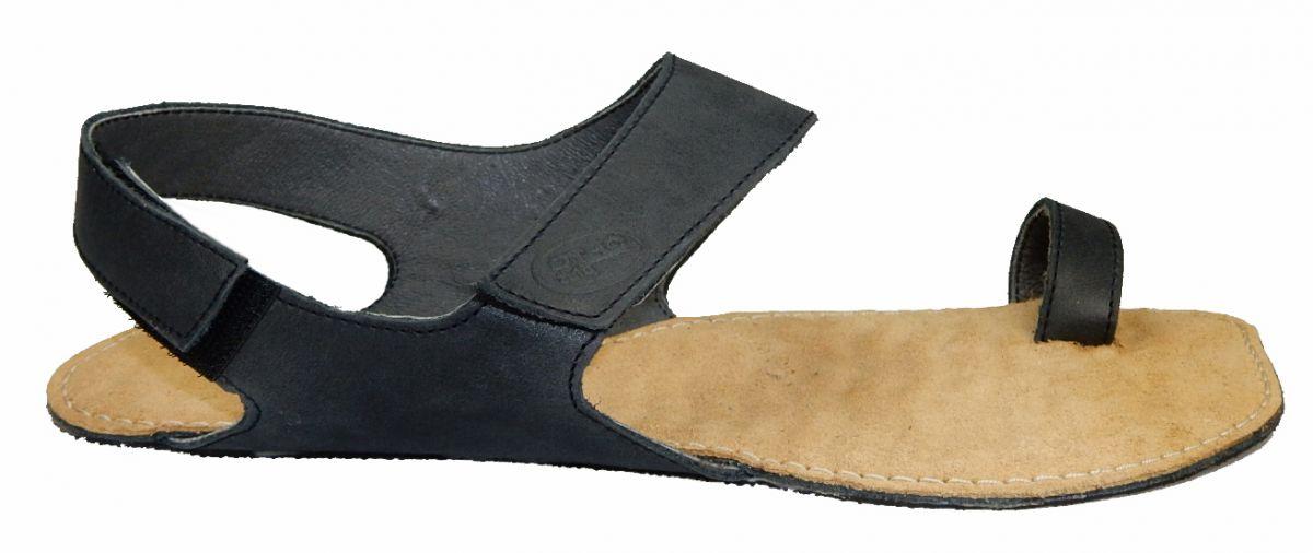 Barefoot Barefoot kožené sandále černé BF A109 -60V ORTOplus Barefoot bosá