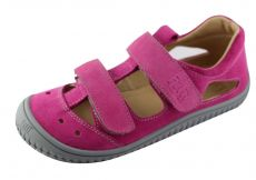 Filii barefoot sandály pink klett W