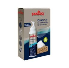 PEDAG Combi Set - sada čistící pěny a houbičky na čištění