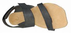 Barefoot Barefoot kožené sandále čokoládové BF A108 -66 ORTOplus Barefoot bosá