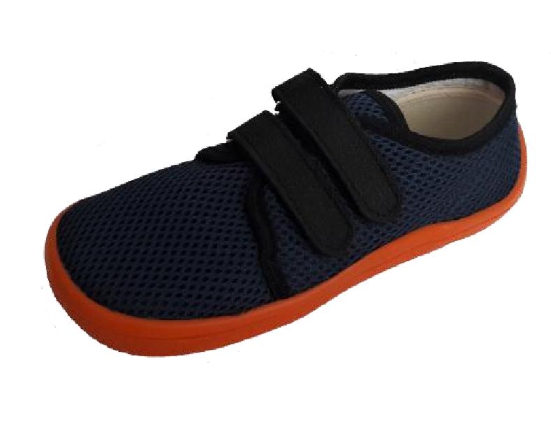Barefoot Beda barefoot tenisky blue mandarine bosá