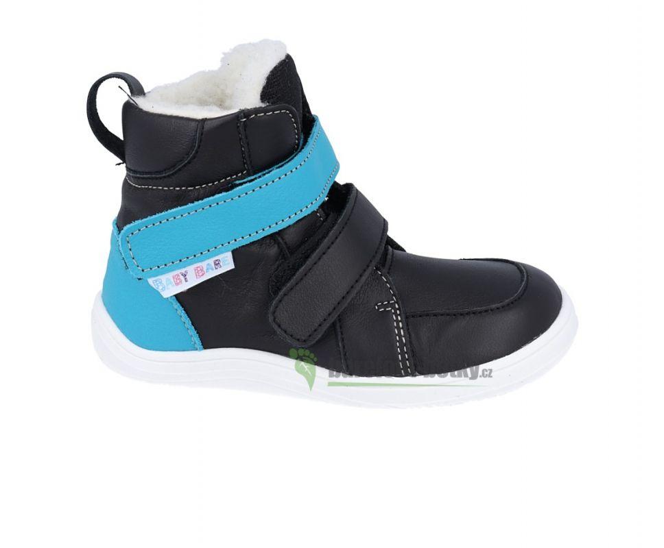 Zimné topánky Baby bare shoes Febo black