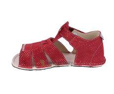 Barefoot Ortoplus barefoot sandálky D200 červené se třpytkami bosá