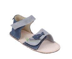 Barefoot Ortoplus barefoot sandálky D203 modré s rybičkou bosá